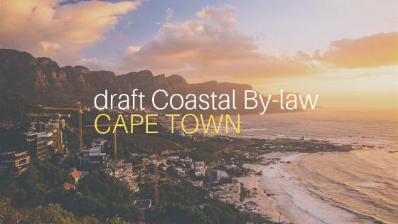 DearSA draft Coastal By-law