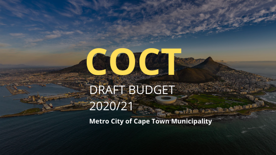 COCT Draft Budget 2020/21 | Dear South Africa