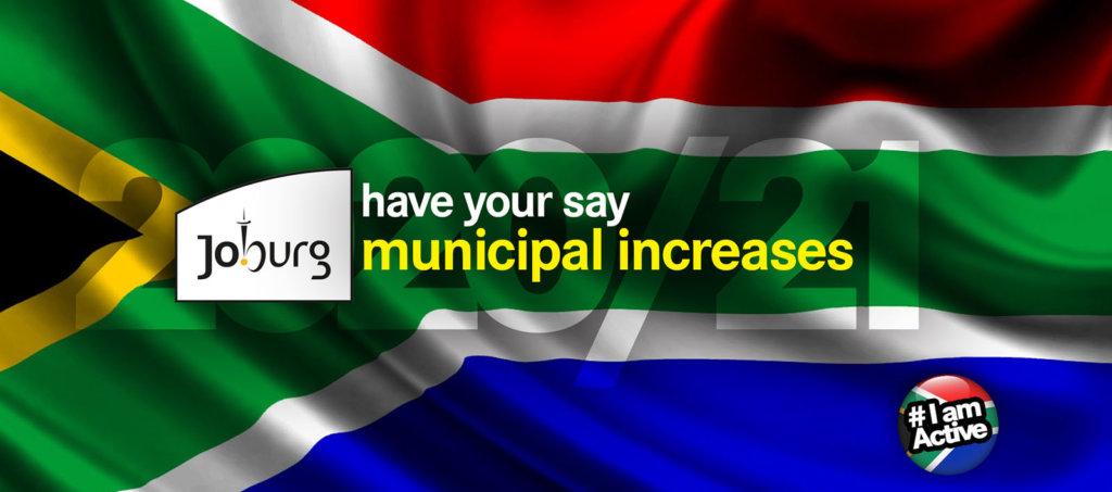 joburg municipal increase