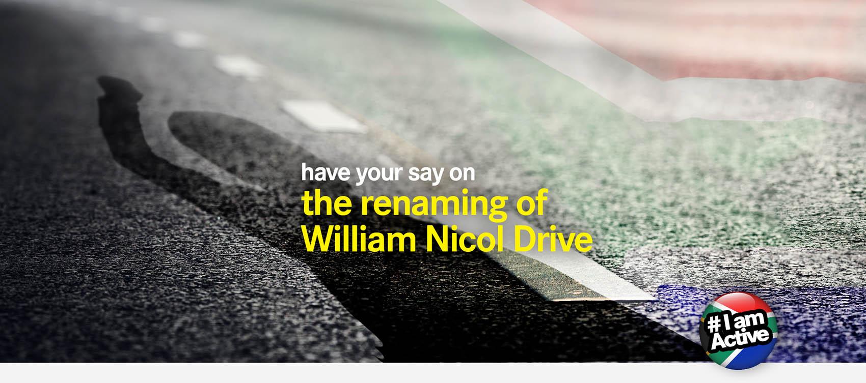 rename William Nicol DearSA